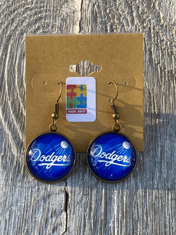 Los Angles Dodgers Dangle earring