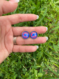 Chicago Cubs Stud Earrings