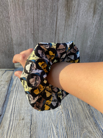 Oversized Dwight Schrute scrunchie The office  hair tie The office gift idea stocking stuffer