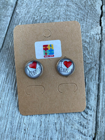 Speech Therapy earrings Speech Therapy gift