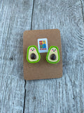 Avocado Earrings Avocado gift idea