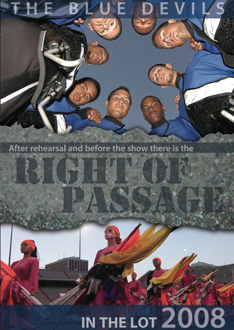 Right Of Passage - In the Lot 2008 DVD
