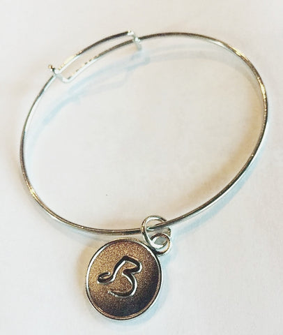 Blue Devils Logo Charm Bangle