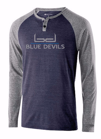 Blue Devils Men's Henley Long Sleeve