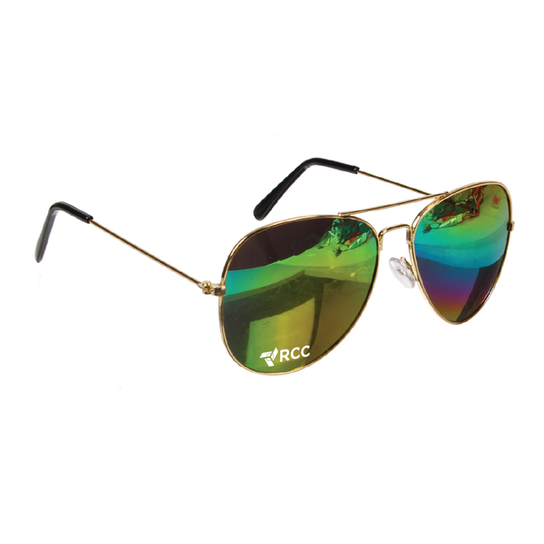 RCC Rainbow Lens Aviator Sunglasses