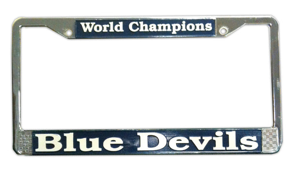 Blue Devils World Champions License Plate Frame
