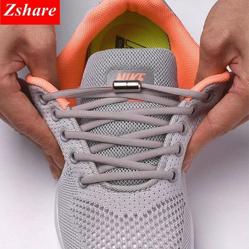 No Tie Shoelaces Round Elastic 1 Pair - Shop it Big