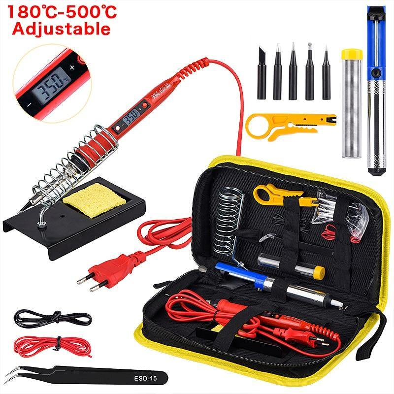 Soldering Iron Kit Adjustable Temperature - Shop it Big