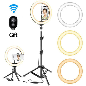 Selfie Ring LED Dimmable Light With Tripod - Shop it Big