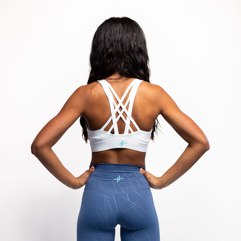 Criss-cross Sports Bra - White