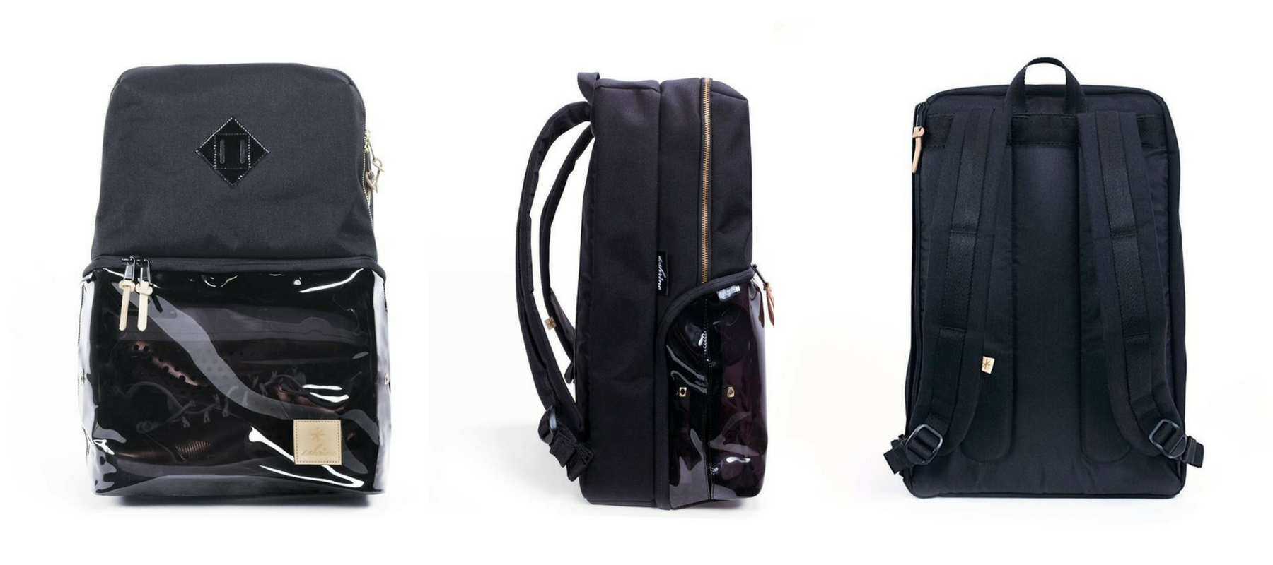 The Shrine Sneaker Daypack: Smoked Translucent & Black