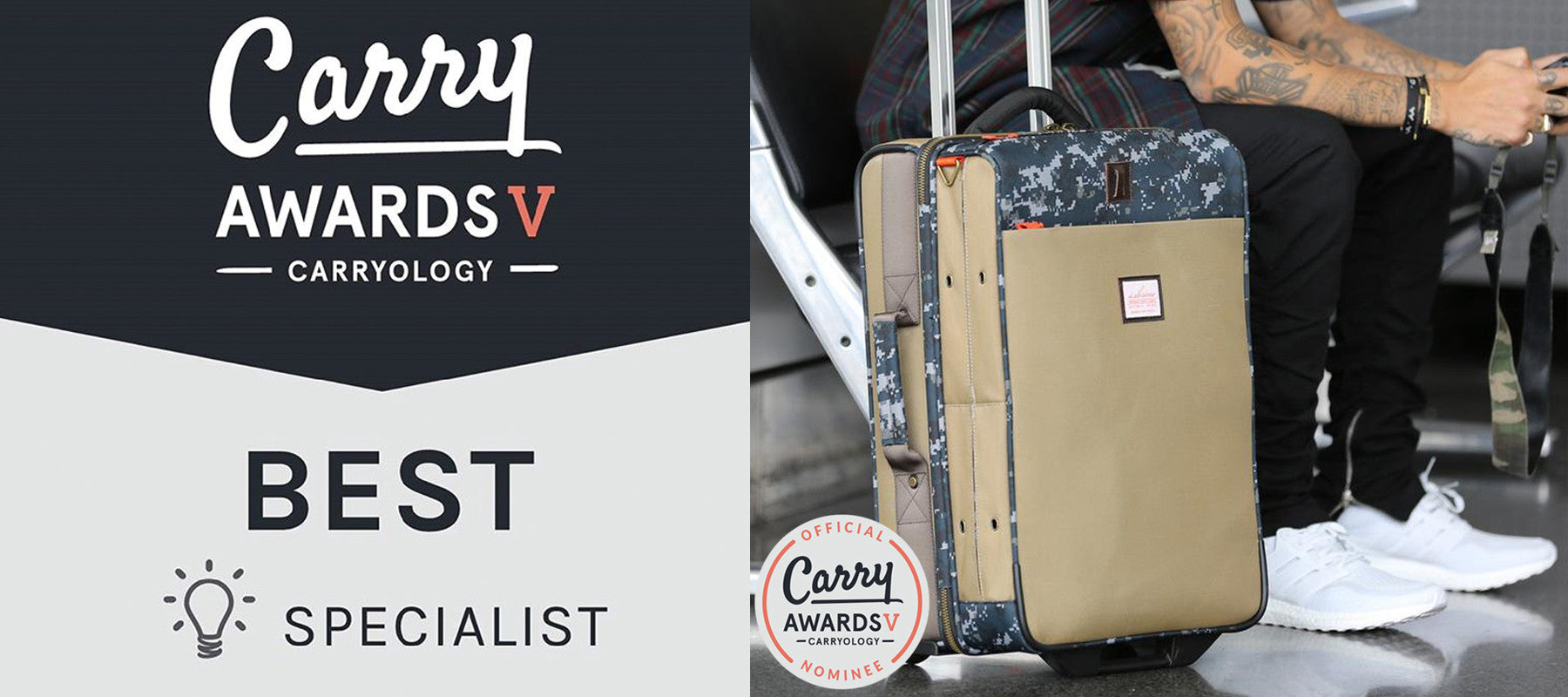Our Luggage design is nominated for a Carryology Award!