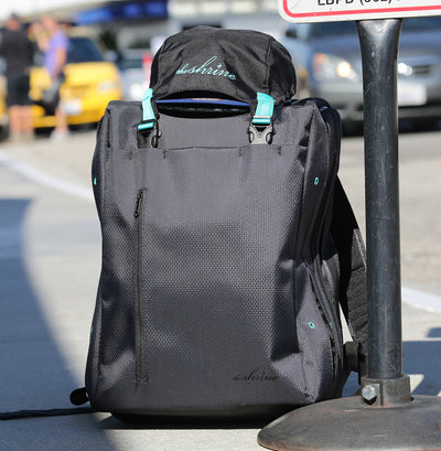 Shrine Weekender Sneaker Backpack - Diamond Press Black/Teal
