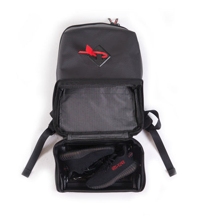 Shrine Sneaker Kids Daypack - Diamond Press Black/Red (1 left)