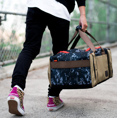 Shrine Sneaker Duffel - Navy Pixel Camo