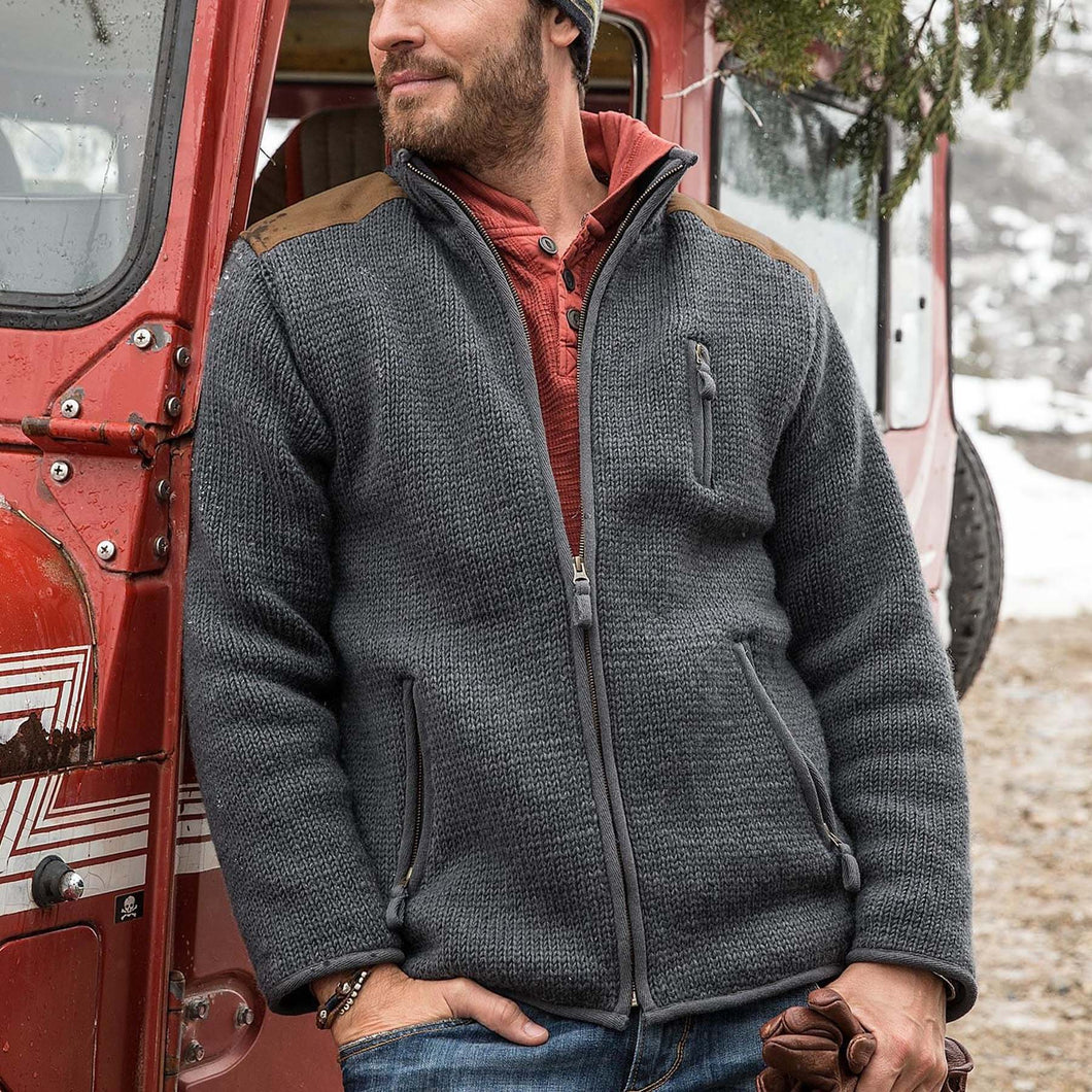Men's outdoor zipper warm sweater jacket