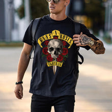 Load image into Gallery viewer, Mens Vintage round neck printed short-sleeved t-shirts