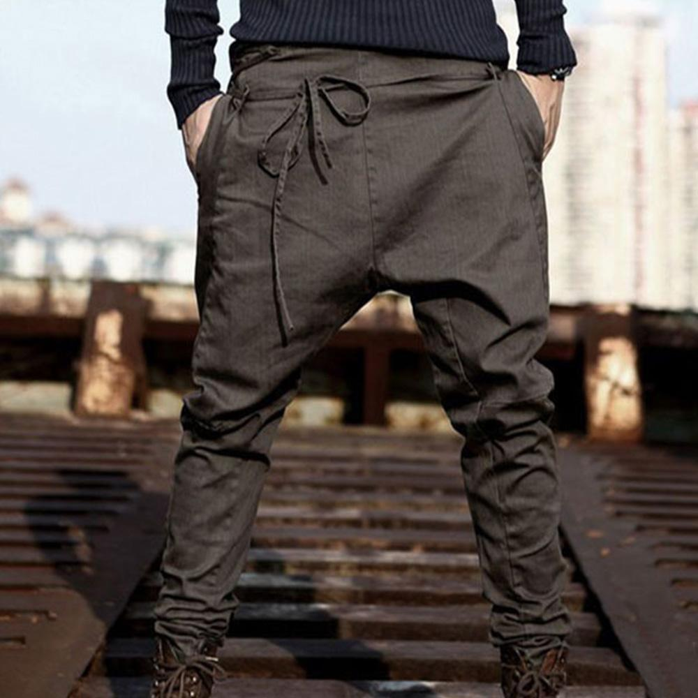 Loose Trousers Men's Solid Color Casual Pants