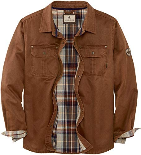 Legendary Whitetails Men's Journeyman Flannel Lined Rugged Shirt Jacket