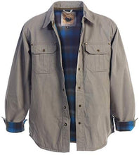 Load image into Gallery viewer, Gioberti Men's Brushed and Soft Twill Shirt Jacket with Flannel Lining