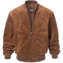 Load image into Gallery viewer, Bomber Leather Jacket