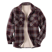 Load image into Gallery viewer, Casual Long Sleeves Lapel Plaid Lamb Cashmere Shirt