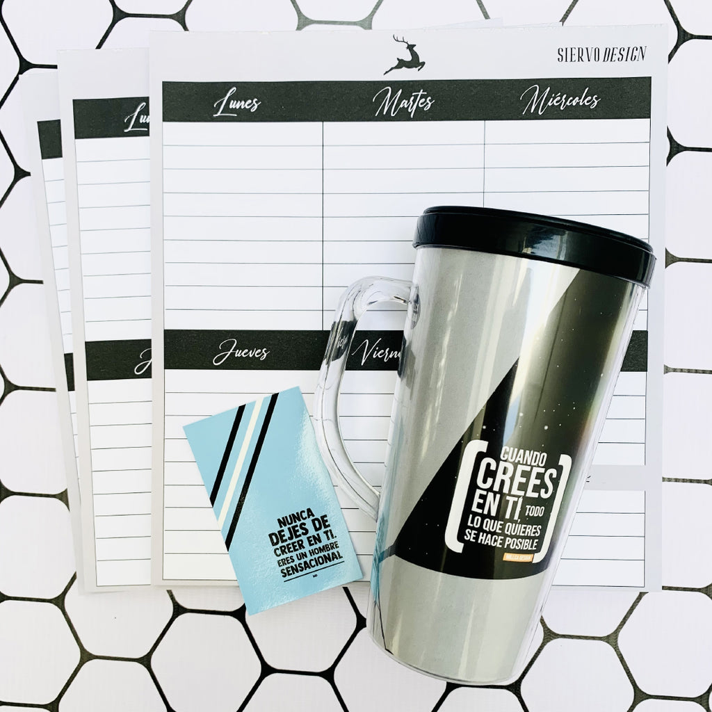 KIT SIERVO DESIGN VASO + PLANNER