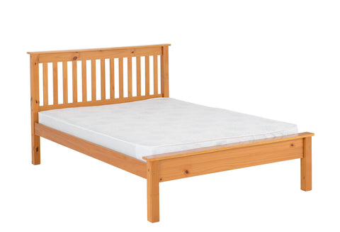 Monaco  bed frame low foot end  Pine