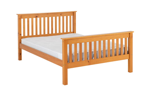 Monaco  bed frame high foot end  Pine