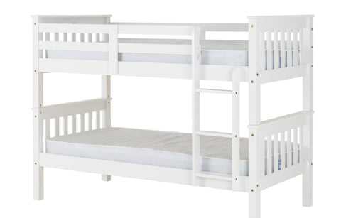 Pine Bunk bed frame white