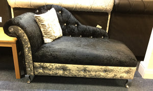 Chaise lounger velvet