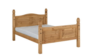 Corona bed frame high foot end double