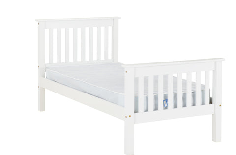 Monaco single bed frame high foot end