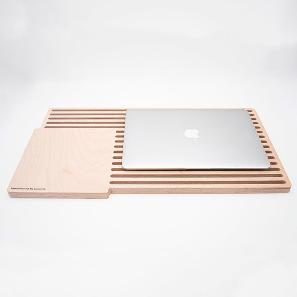 Escritorio portátil para Macbook Trails Lapdesk Personalizable para zurdos