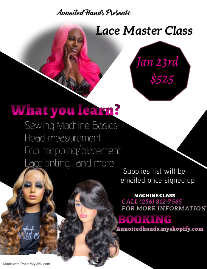 Lace Master Class Deposit Only