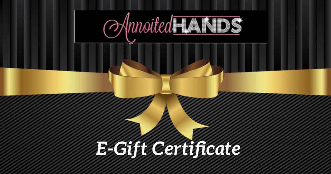 Annoited Hands Gift Certificate