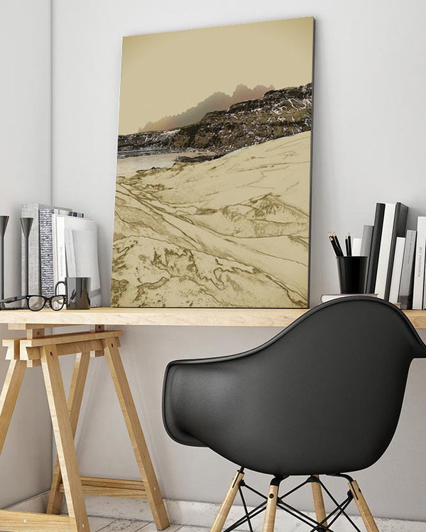 Mountain Sketch Iceland Canvas Art