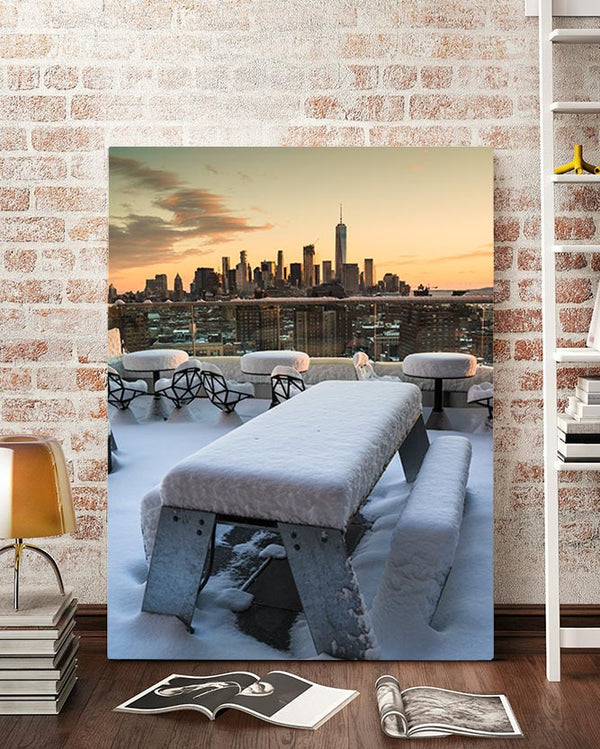 Snow in Manhattan Art Tom Youngblood