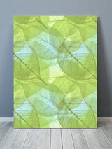 Transparent Leaves Pepper Stem Green Canvas Art