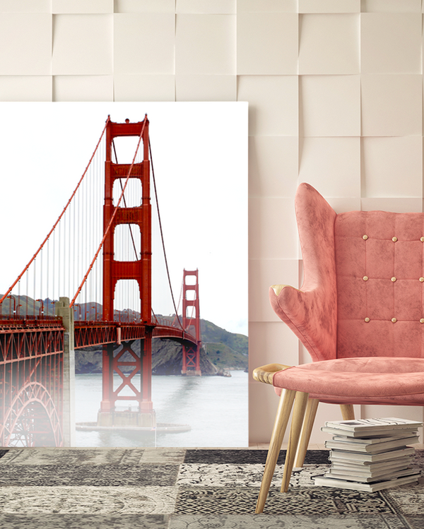 San Francisco Misty Golden Gate Canvas Art