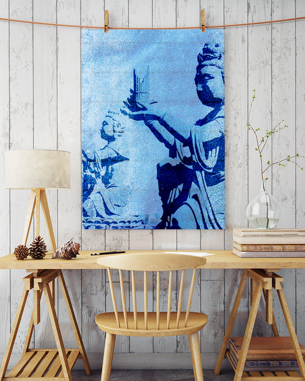 Hong Kong Statue Canvas Art