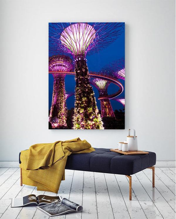 Singapore Lights Canvas Art