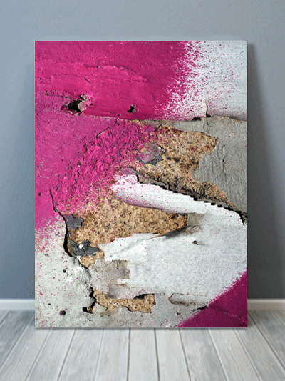 Pink Chipped Paint Texture Canvas Art