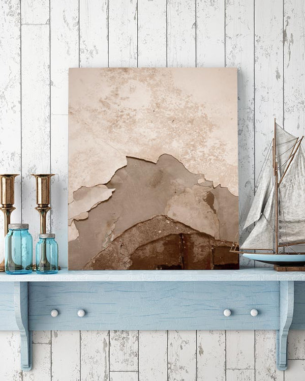 Rusted Chipped Metal Texture Canvas Art