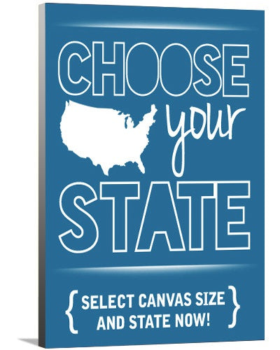 Custom U.S.A. States Canvas Art