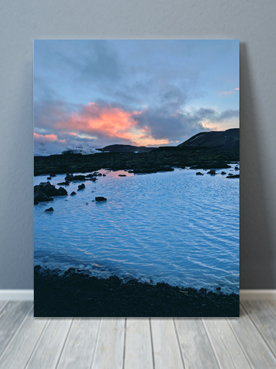 Blue Lagoon Iceland Canvas Art