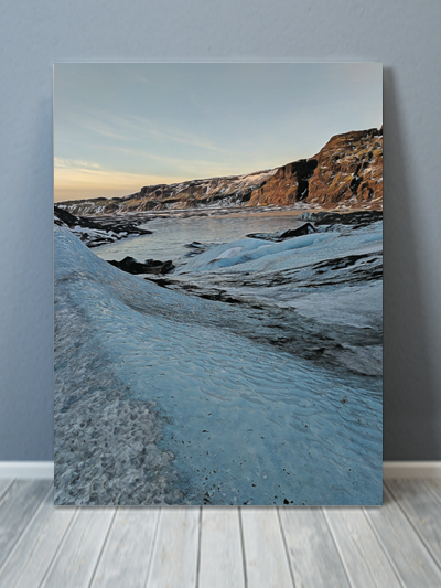 Glacier Painting Iceland Canvas Art