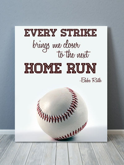 Babe Ruth Canvas Art - Quote Canvas Art