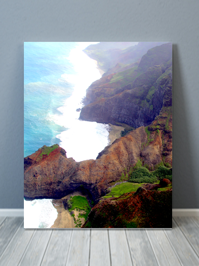 Kauai Aerial View 2 Canvas Art