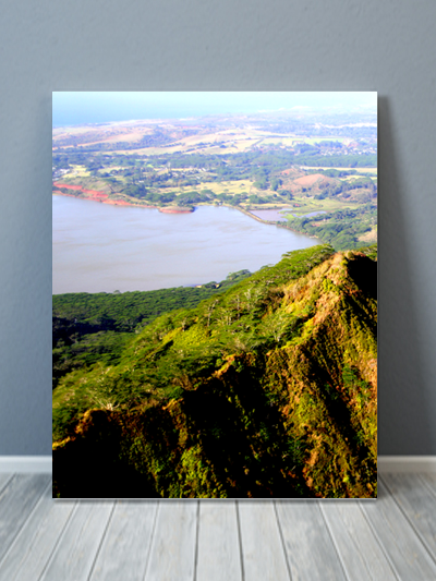Kauai Aerial View Canvas Art